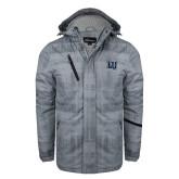 Grey Brushstroke Print Insulated Jacket-Interlocking LU