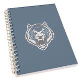 Clear 7 x 10 Spiral Journal Notebook-Tiger Head