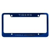 Metal Blue License Plate Frame-Tigers