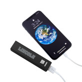 Aluminum Black Power Bank-Lincoln Engraved
