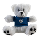 Plush Big Paw 8 1/2 inch White Bear w/Navy Shirt-Tiger Head