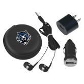 3 in 1 Black Audio Travel Kit-Tiger Head