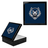 Ebony Black Accessory Box With 6 x 6 Tile-Tiger Head