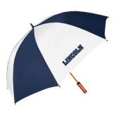 62 Inch Navy/White Umbrella-Lincoln