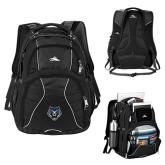 High Sierra Swerve Black Compu Backpack-Tiger Head