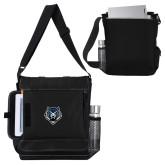 Impact Vertical Black Computer Messenger Bag-Tiger Head