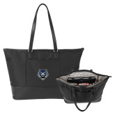 Stella Black Computer Tote-Tiger Head