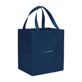 Non Woven Navy Grocery Tote-Wordmark