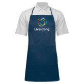 Full Length Navy Apron-Livestrong Stacked