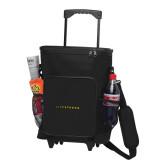30 Can Black Rolling Cooler Bag-Wordmark