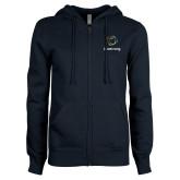 ENZA Ladies Navy Fleece Full Zip Hoodie-Livestrong Stacked