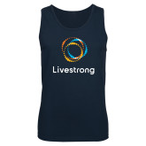 Navy Tank Top-Livestrong Stacked