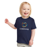 Toddler Navy T Shirt-Livestrong Stacked