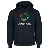 Navy Fleece Hoodie-Livestrong Stacked