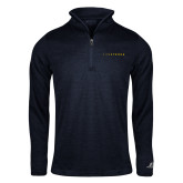 Russell Navy Heather 1/4 Zip-Wordmark
