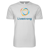 Next Level SoftStyle White T Shirt-Livestrong Stacked