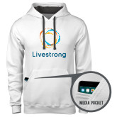 Contemporary Sofspun White Hoodie-Livestrong Stacked