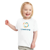 Toddler White T Shirt-Livestrong Stacked