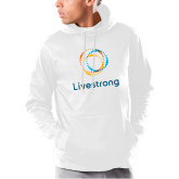 Under Armour White Armour Fleece Hoodie-Livestrong Stacked