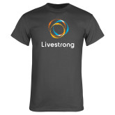 Charcoal T Shirt-Livestrong Stacked