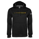 Under Armour Black Performance Sweats Team Hoodie-Wordmark