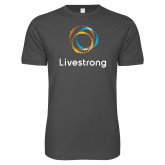 Next Level SoftStyle Charcoal T Shirt-Livestrong Stacked