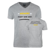 Next Level V Neck Heather Grey T Shirt-Personalized