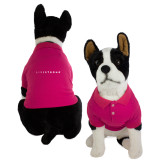 Classic Fuchsia Dog Polo-Wordmark