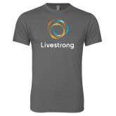 Next Level Premium Heather Tri Blend Crew-Livestrong Stacked