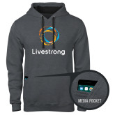 Contemporary Sofspun Charcoal Heather Hoodie-Livestrong Stacked