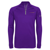 Under Armour Purple Tech 1/4 Zip Performance Shirt-LIVESTRONG