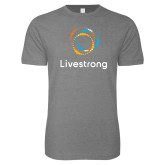 Next Level SoftStyle Heather Grey T Shirt-Livestrong Stacked