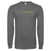 Charcoal Long Sleeve T Shirt-Wordmark
