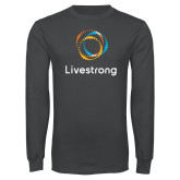 Charcoal Long Sleeve T Shirt-Livestrong Stacked