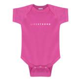 Fuchsia Infant Onesie-LIVESTRONG