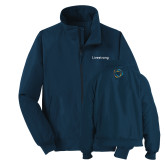 Navy Charger Jacket-Livestrong Wordmark