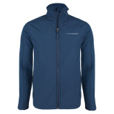 Navy Softshell Jacket-Wordmark