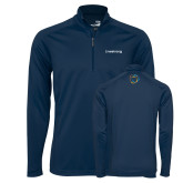 Syntrel Navy Interlock 1/4 Zip-Livestrong Wordmark