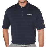 Callaway Horizontal Textured Navy Polo-Livestrong Wordmark