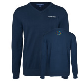 Classic Mens V Neck Navy Sweater-Livestrong Wordmark