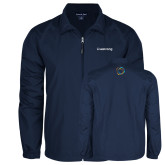 Full Zip Navy Wind Jacket-Livestrong Wordmark