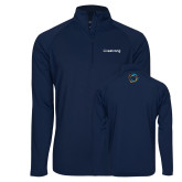 Sport Wick Stretch Navy 1/2 Zip Pullover-Livestrong Wordmark