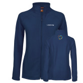 Ladies Fleece Full Zip Navy Jacket-Livestrong Wordmark