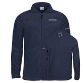 Columbia Full Zip Navy Fleece Jacket-Livestrong Wordmark