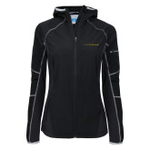 Columbia Ladies Sweet As Black Hooded Jacket-Wordmark