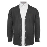Charcoal V Neck Cardigan w/Pockets-LIVESTRONG