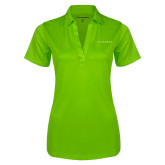 Ladies Lime Green Silk Touch Performance Polo-Wordmark