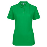 Ladies Easycare Kelly Green Pique Polo-Wordmark