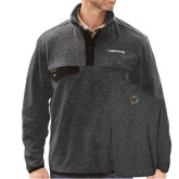 DRI DUCK Denali Charcoal Fleece Pullover-Livestrong Wordmark
