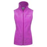Columbia Ladies Full Zip Lilac Fleece Vest-LIVESTRONG